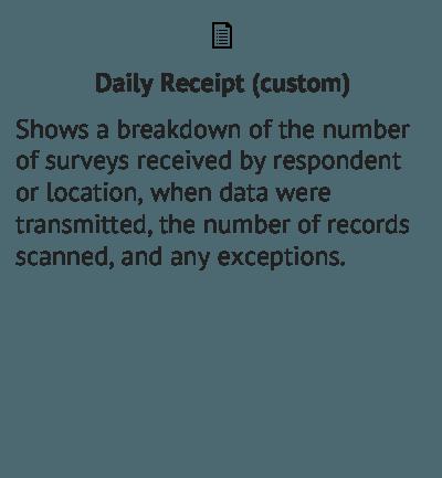 Daily Receipt - Data Output