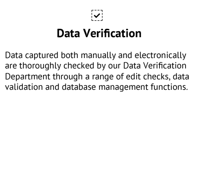 Data Verification - Data Collection Services