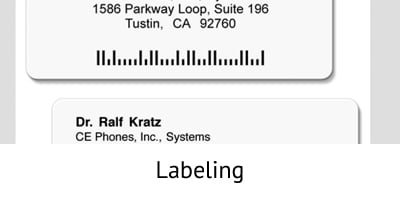 Labeling - Incentive Fulfillment