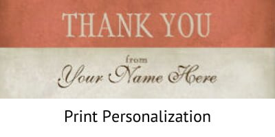 Print Personalization - Incentive Fulfillment