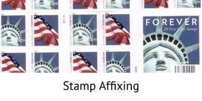 Stamp Affixing - Incentive Fulfillment