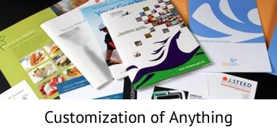 Customization of Anything - Document Printing