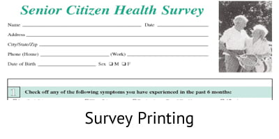 Survey Printing - Document Printing