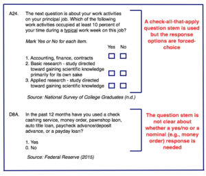Effects of Badly Worded Survey Questions